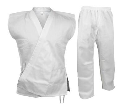 Karate Uniform, Sleeveless, White