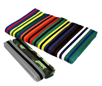 Single Striped Belts, Color w/ Black Stripe
