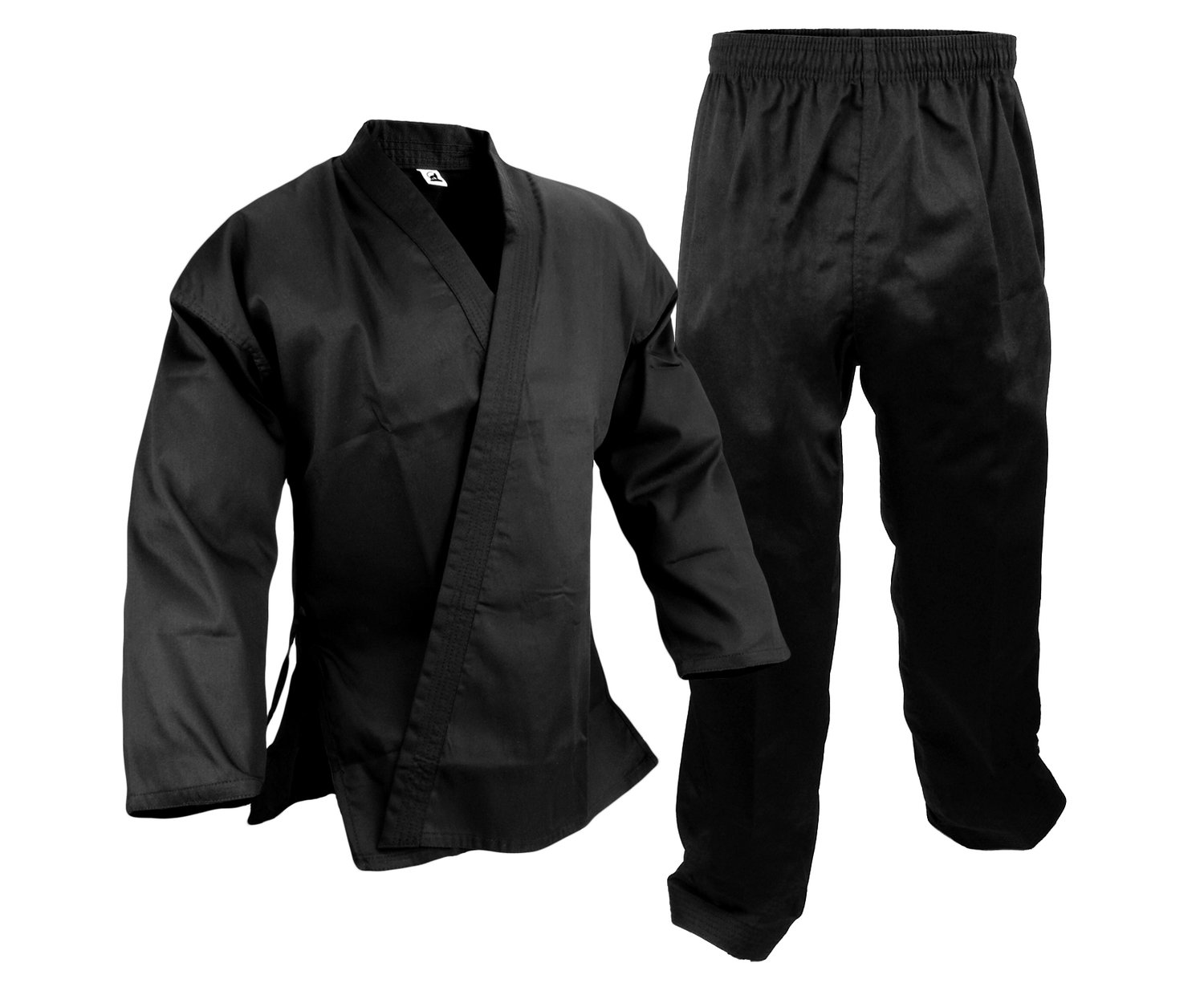 Student Karate Uniform, Light W't., Black