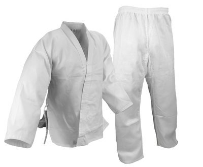 Karate Uniform, Medium W't., White