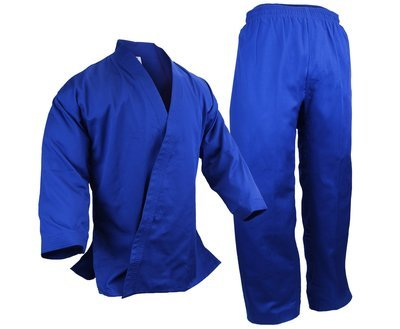 Student Karate Uniform, Light W't., Blue