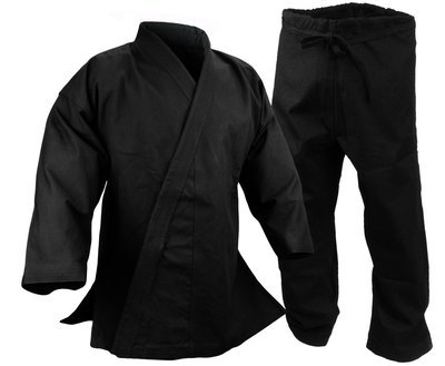 Karate Uniform 14 oz., Black