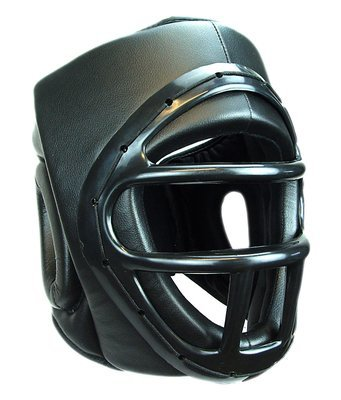 Head Gear, w/Cage, Synthetic Leather, Black
