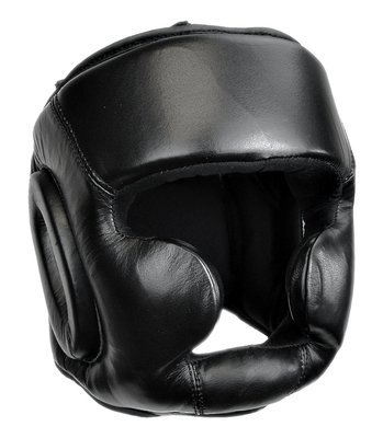 Head Gear, Leather, Closed Chin, Deluxe, Black