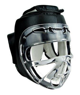 Head Gear, w/Clear Shield, Synthetic Leather, Black