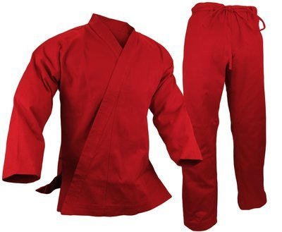 Karate Uniform 12 oz., Red