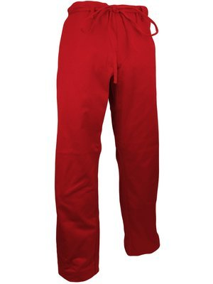 Karate Uniform, Pants, 12 oz., Red