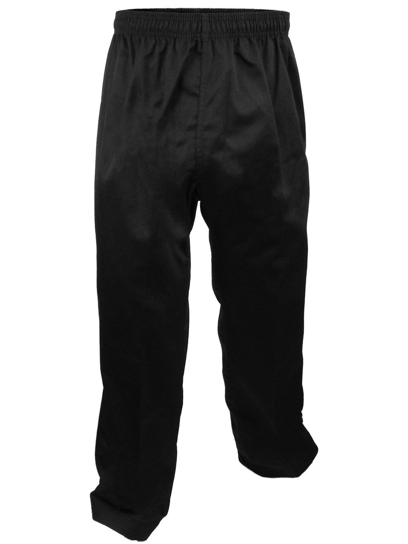 Karate Uniform, Pants, Medium Weight, Black