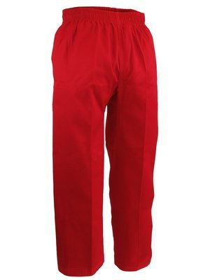 Karate Uniform, Pants, Light W't., Red