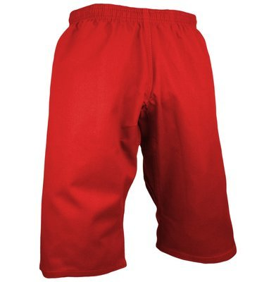 Karate Uniform, Pants, Shortcut, Light W't, Red