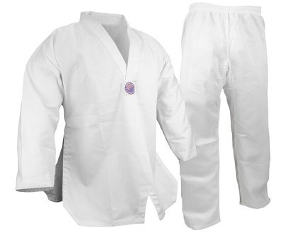 Student Taekwondo Uniform, 8oz. Light, White