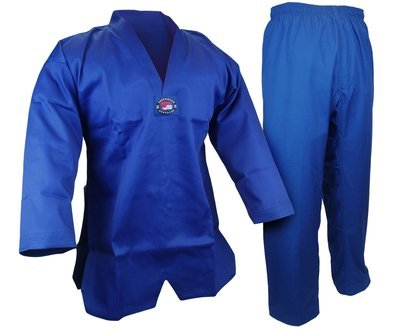 Student Taekwondo Uniform, 8oz. Light, Blue