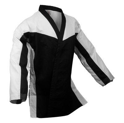 Team - Jacket Open, White/Black Combo, Black Lapel