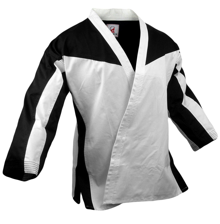 Team - Jacket Open, Black/White Combo, White Lapel