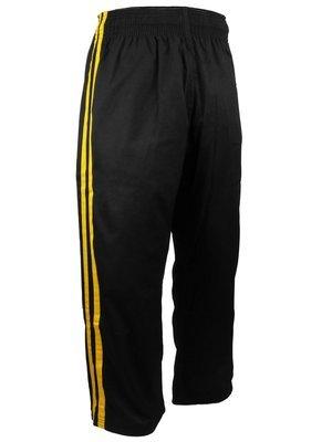 Team - Pants, Black, 2 Yellow Stripes