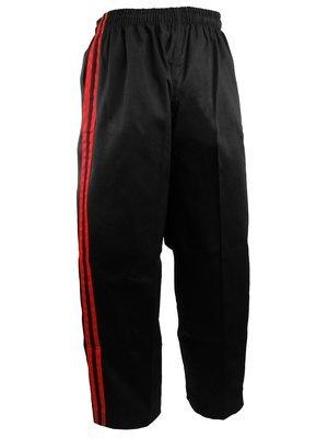 Team - Pants, Black, 2 Red Stripes
