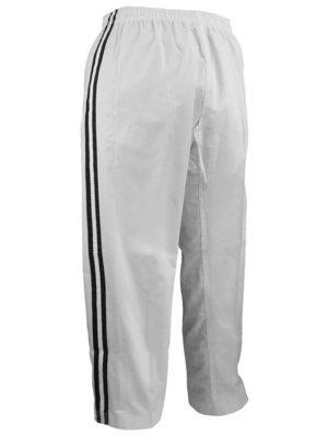 Team - Pants, White, 2 Black Stripes