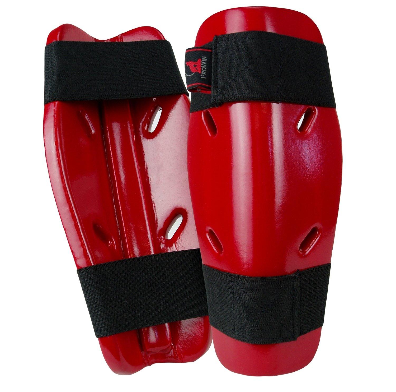 Shin Guard, Foam, Red