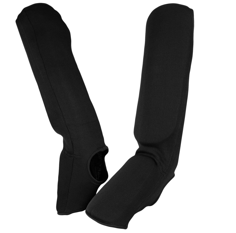 Shin and Instep Guard, Cloth, Black