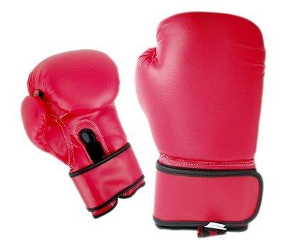 Boxing Gloves, Vinyl, Red
