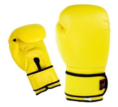 Boxing Gloves, Vinyl, Yellow