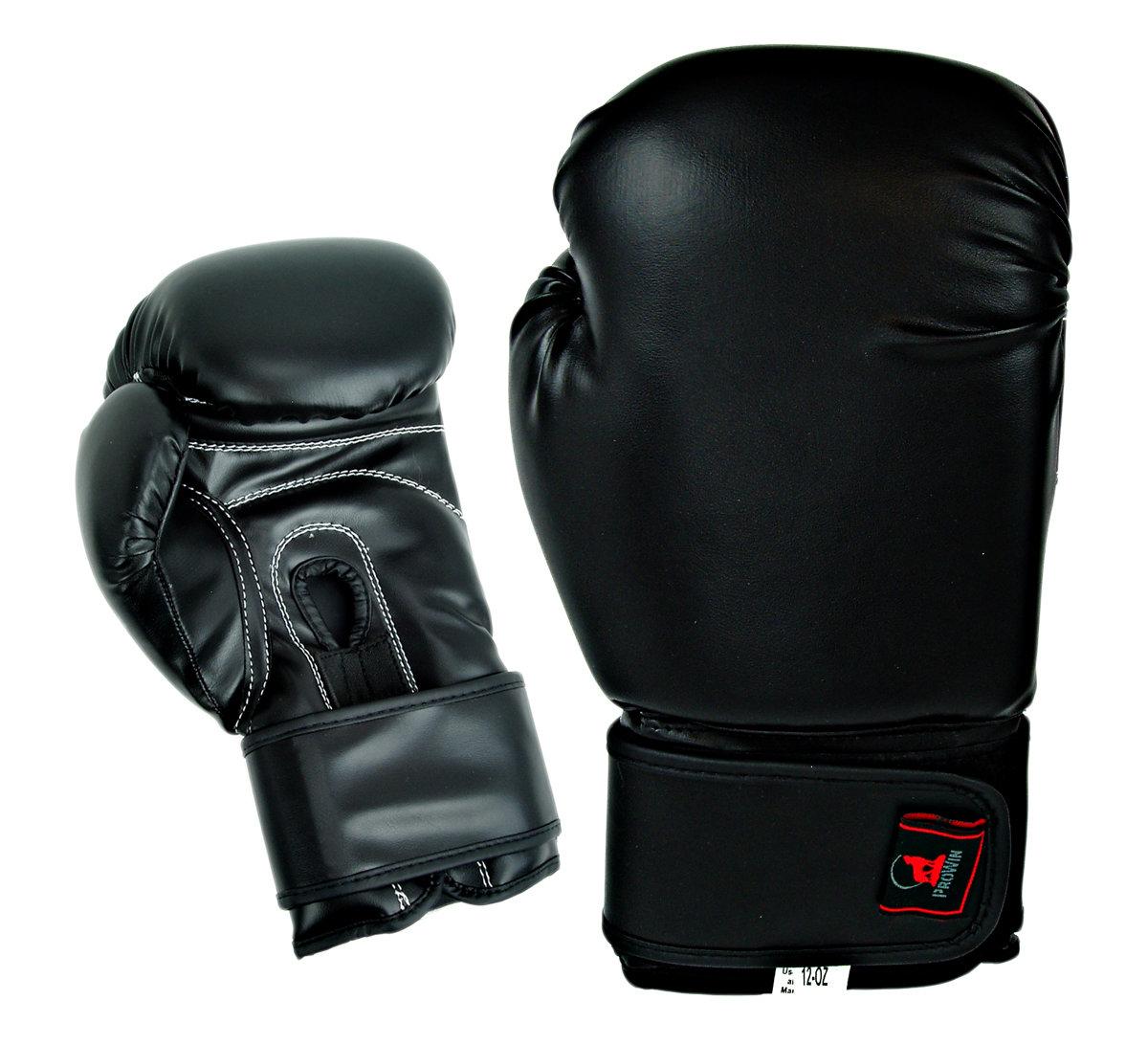 Boxing Gloves, Vinyl, Black