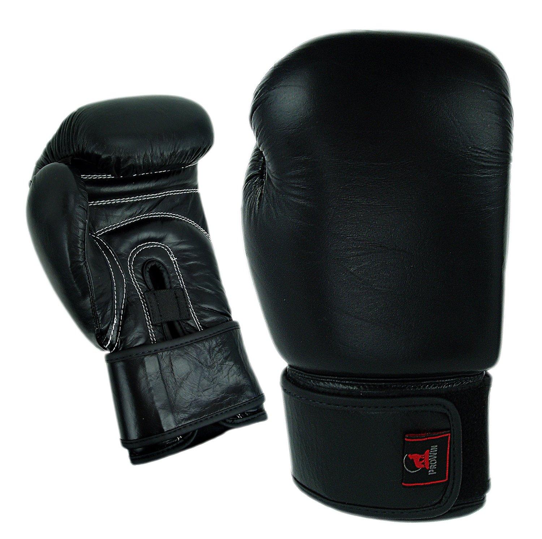 Boxing Gloves, Leather, Training, Black