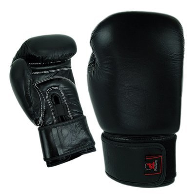 Boxing Gloves, Leather, Training, Black