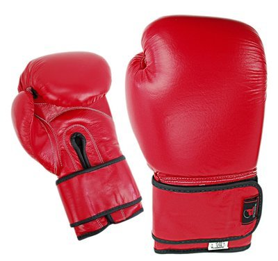 Boxing Gloves, Leather, Training, Red