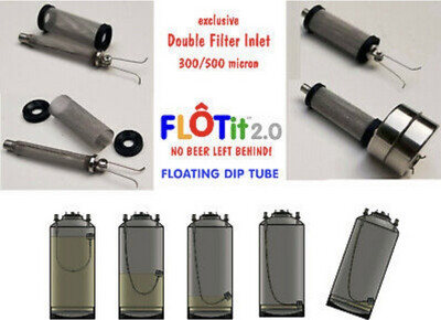 FLOATit - Floating Dip Tube For Corny Kegs