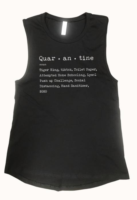 Quar - an - tine  ~ black tank