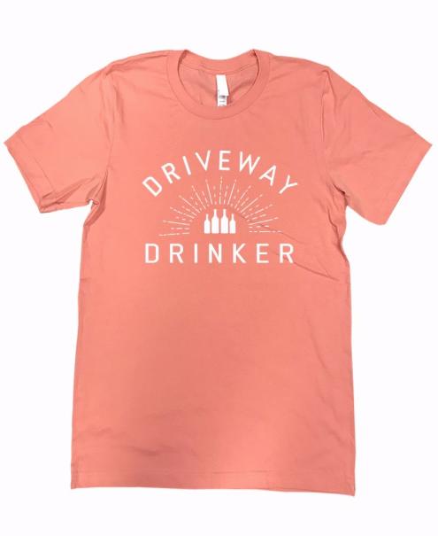 DRIVEWAY DRINKER Tee | peach