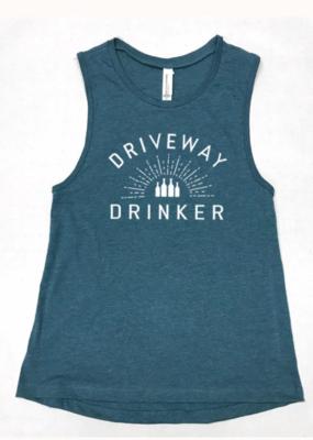 DRIVEWAY DRINKER tank | deep sea blue