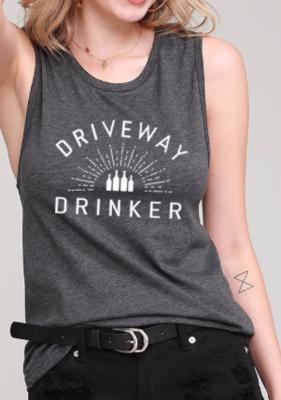 DRIVEWAY DRINKER tank | charcoal
