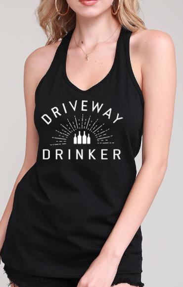 DRIVEWAY DRINKER racer back tank | black