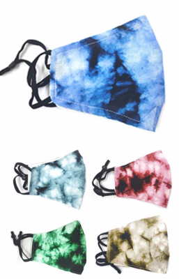 Tie Dye Adjustable Ear Masks