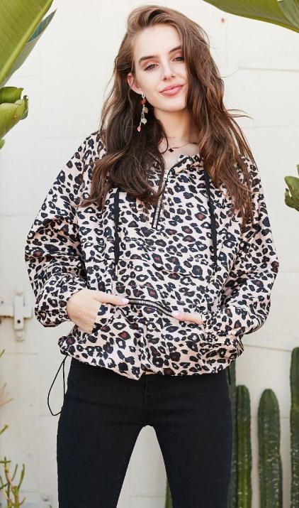 Wild Windbreaker   leopard