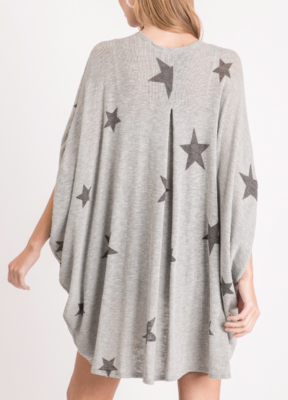 You're a Star Kimono Cardi ~ light grey
