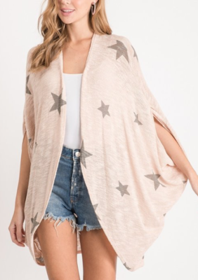 You're a Star Kimono Cardi ~ light peach
