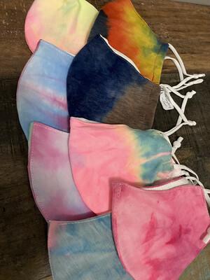 Bright Tie Dye  Adjustable Ear Masks