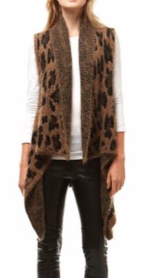 Soft Leopard Cardi Vest