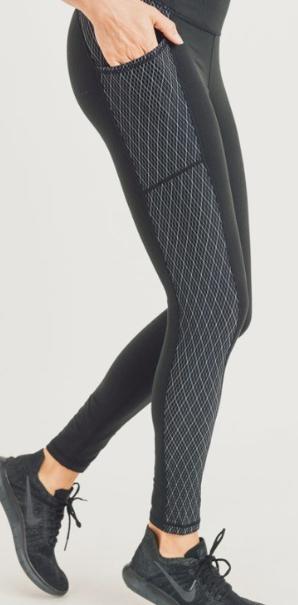 Diamond Jacquard Legging