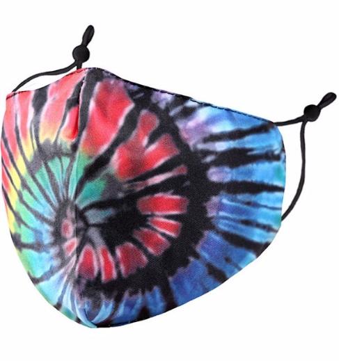 KIDS Funky Tie Dye Masks (adjustable ear loops)