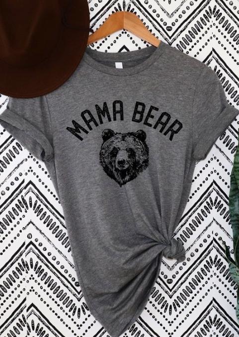 Mama Bear Tee | Grey