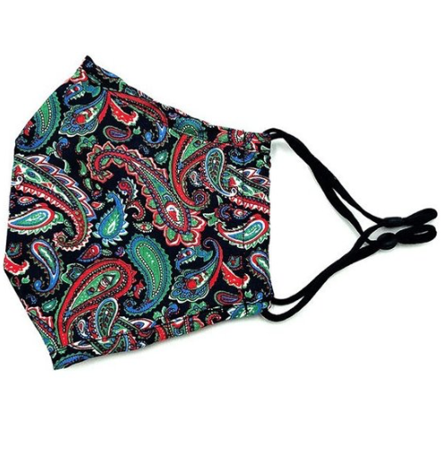 Vibrant Paisley Mask (adjustable ear loops)