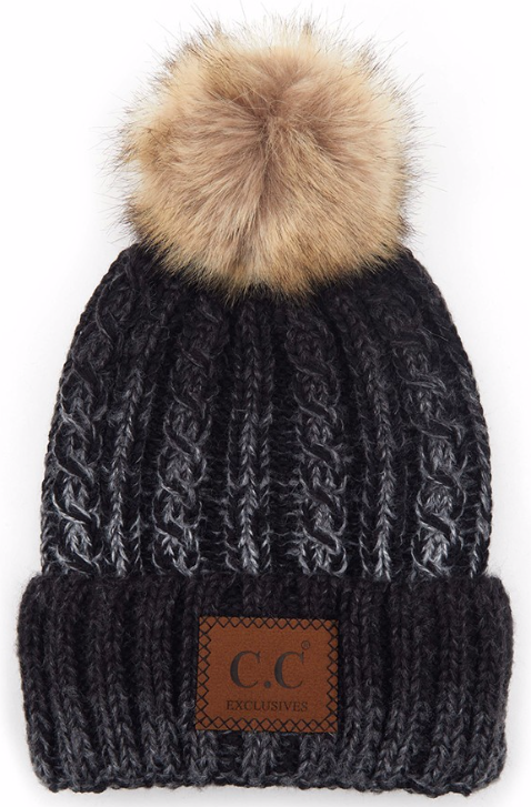 Ombre Chunky Knit Beanie