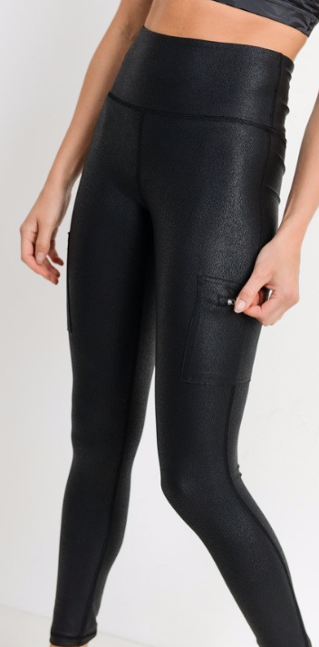 PERFECTION  LEGGINGS | Faux Leather Pocket