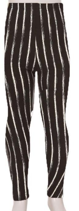KIDS SUPER SOFT LEGGINGS | Black + white stripes