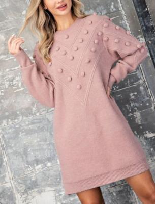 Mini Pom Sweater Dress