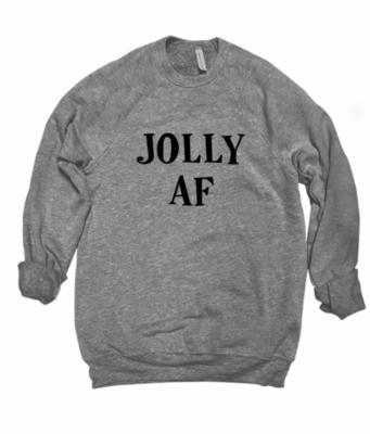 JOLLY AF Crew | Dark Heather Grey